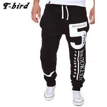 T-Bird New Arrived 2017 Brand Casual Joggers Digital Printing Compression Pants Men Cotton Trousers Calabasas Cargo Pants Mens R