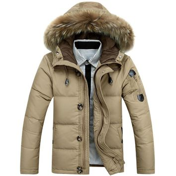 The new large size 4 color 2016 warm warm a man wear out quilted jacket wind-proof cover jacket size
