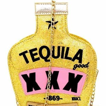 Gold Tequila Handbag Purse