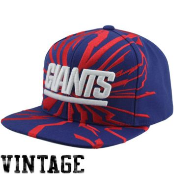 Mitchell & Ness New York Giants Earthquake Snapback Adjustable Hat - Royal Blue