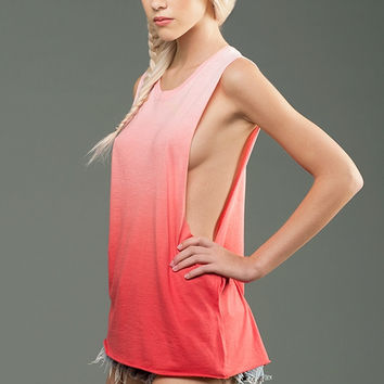 eco-HYBRID™ Micro Jersey Deep Side Cut Ombre Dye Muscle Tank - Blank or Choose from My designs