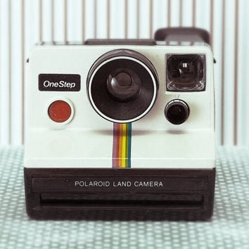 Polaroid SX-70 One Step White Rainbow Stripe Instant Land Camera Vintage Camera photograph 8x10 Fine Art Print