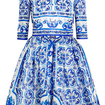 Dolce & Gabbana - Printed silk mini dress