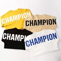 Champion New fashion back letter print couple long sleeve top sweater