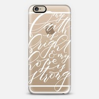 My Faith is Bright iPhone 6 case by PaperMountainCo | Casetify