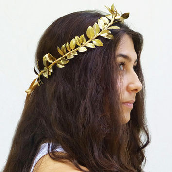 Reserved for Christie - Gold Leaf Crown, Greek Goddess, Gold Leaf Tiara. Gold Leaf Headband, Goddess, Greek Headpiece, Gold Leaf Crown