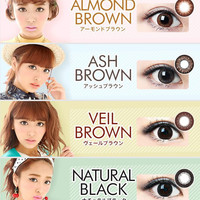 LUCIA 1-Day UV Colored Circle Lenses Combo (4 Boxes)