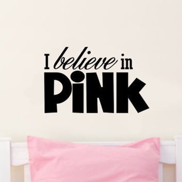 I believe in Pink.. Audrey Hepburn Vinyl Wall Decal Sticker Art