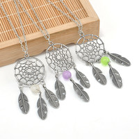 Dream Catcher Leaves Necklace for Girls