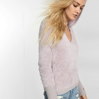 Fuzzy Hooded Pullover Sweater
