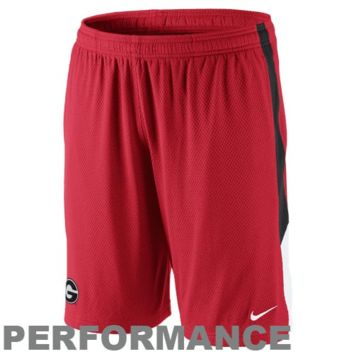 Nike Georgia Bulldogs Double Mesh Performance Basketball Shorts - Red