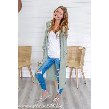 Make Your Own Luck Cardigan - Sea Foam Green