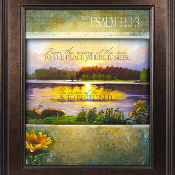 From The Rising Of The Sun 22x26 Framed Art