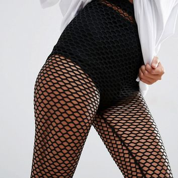 ASOS Fishnet Leggings at asos.com