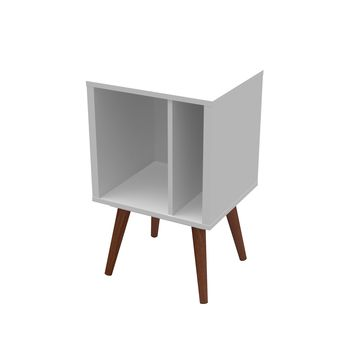 Small Cubby Bookcase White Satin