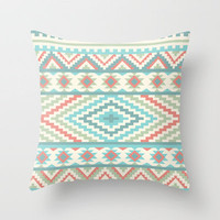 Friendship Bracelet Throw Pillow by Rachel Caldwell | Society6