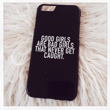 "Black ""Good Girls Are Bad Girls"" iPhone 4 4S Hipster Phone Case"