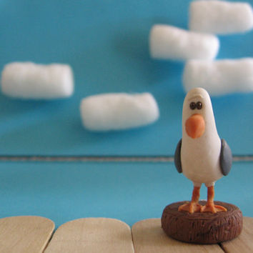 Finding Nemo Polymer Clay Seagull figurine by WongWayJamie on Etsy