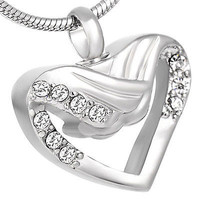 """Cremation """"Wrapped Heart"""" Urn Necklace"""