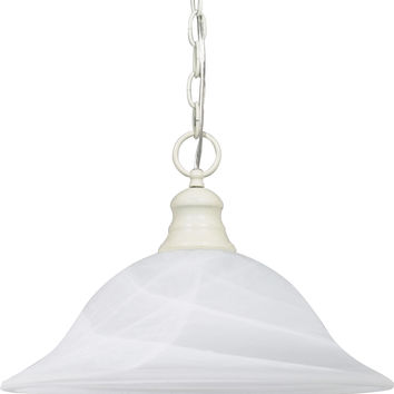 Dome Hanging Pendant Light in Textured White Finish