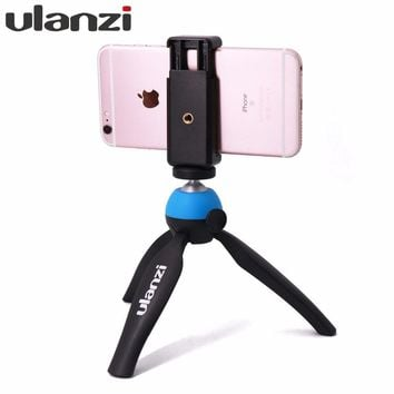Ulanzi Mini Tabletop Tripod with Phone Mount holder for Video Bloggers Vlogging Youtube Video Streaming for iPhone Huawei Xiaomi