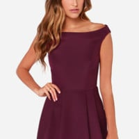 Keepsake Nicest Thing Burgundy Dress