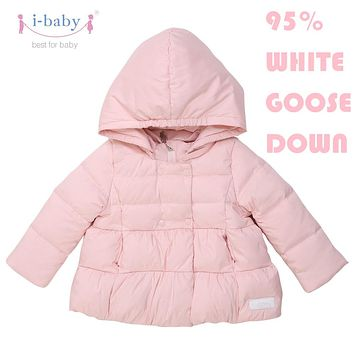 i-baby Outlast Kids Outwear Hooded Baby Cozy Down Coat Puffer Jacket with double Layers Filling for Winter