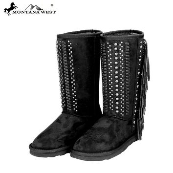 BST-035 Montana West Fringe Collection Boots