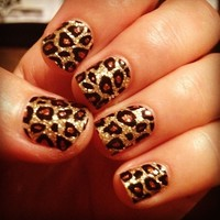 cheetah acrylic nail designs tumblr - Cheetah Nail Designs – Nail Design and Pictures Ideas