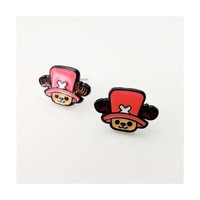 M  Anime  Piece  Luffy  Cosplay  Earrings  Alloy