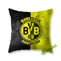 Borussia Dorthmund Flag Background Logo Square Pillow Cover