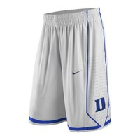 Nike College Authentic Duke Men's Basketball Shorts - White