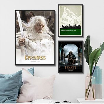 The Lord of the Rings MIDDLE EARTH MAP Vintage Movie Poster Home Decoration Wall Art Canvas Home Decor Art Picture