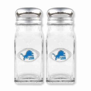 NFL Lions Glass Salt and Pepper Shakers - Etching Personalized Gift Item