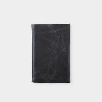Flap Card Holder - Black
