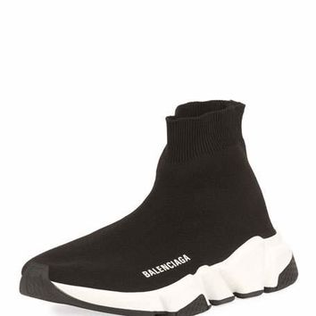 Balenciaga Stretch-Knit High-Top Trainer