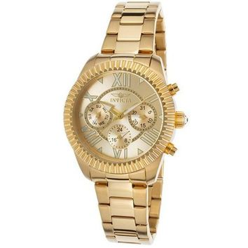 Invicta Women's 'Angel' Swiss Quartz Stainless Steel Casual Watch, Color:Gold-Toned (Model: 21423)