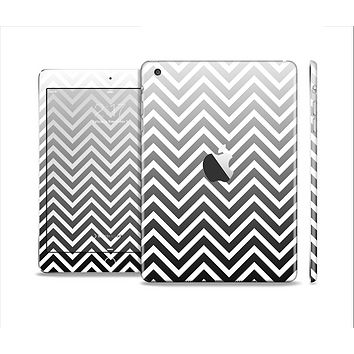 The White & Gradient Sharp Chevron Skin Set for the Apple iPad Mini 4
