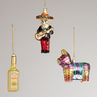 Mexico Glass  Ornaments, Set of 3 - World Market