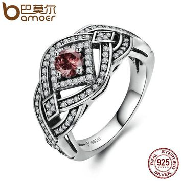 Authentic 925 Sterling Silver Punk Weave Finger Ring Geometric Rings For Women Sterling Silver Vintage Jewelry SCR059