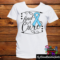 Light Blue Ribbon Find A Cure Shirts (Addisons Disease, Behcets Disease, Graves Disease, Lymphedema, Prostate Cancer and More)