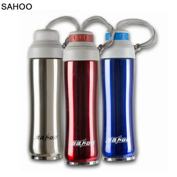 Brand New SAHOO 350ml Riding Bike keep warm Cycling Hot /Cold Water Bottle  thermos Stainless Steel Vacuum top Quality