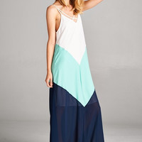 Shades of Summer Maxi Dress - Mint