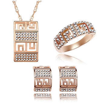 Fashion Jewelry Set High Quality Accessory Earring&Ring&Necklace = 4558880132