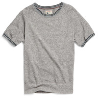 Piped Raglan Sweatshirt in Antique Grey Heather
