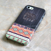 Elephant Tribal Aztec Geometric Wood iPhone 5s Case , iPhone 5 Case , iPhone 4s Case , iPhone 6 Case , iPhone 6 Plus , Samsung Galaxy S5 S4