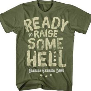 """New Florida Georgia Line """"Raise Some He!!"""" Country Rock Licensed Adult T-Shirt"""