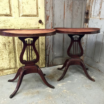 Mersman End Table, Antique Side Table, Unique End Tables