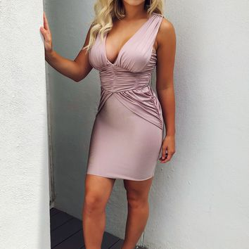 Need Your Love Dress: Dusty Mauve