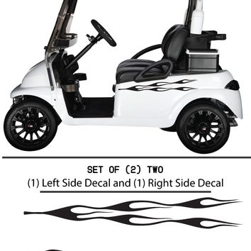 Cart Vinyl Graphic Decals, Set of (2) TWO - STYLE F094